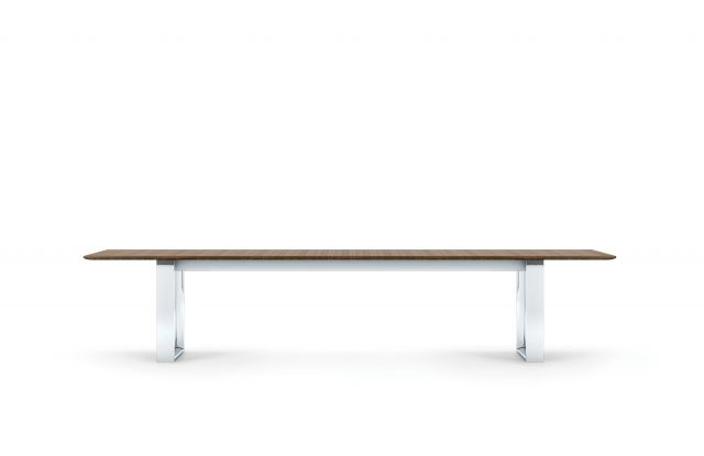 "Flow | Conference Table | G35 Marron Walnut Veneer | 144 x 48"" Rectangle Shape Top 