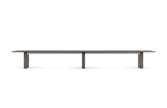 "Flow | Conference Table | 240"" Length Rectangle Veneer Top 