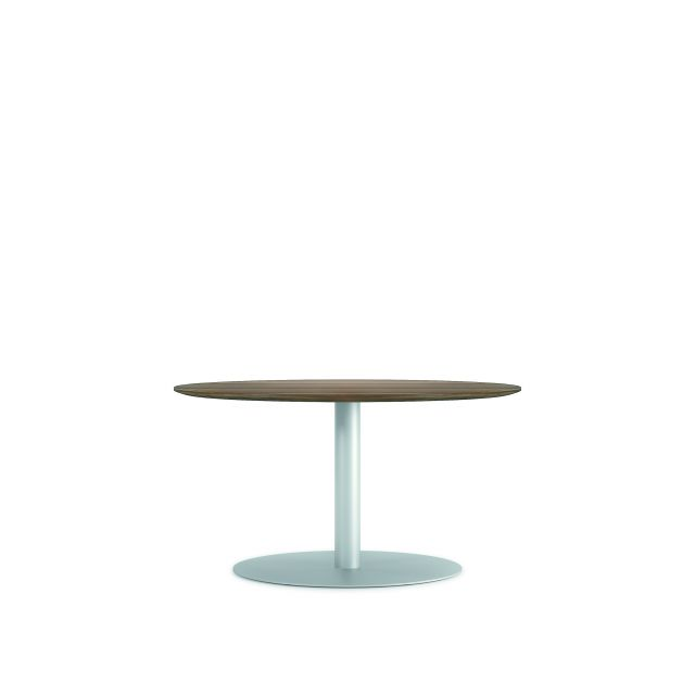 "Flow | Conference Table | 54"" Round Veneer Top 