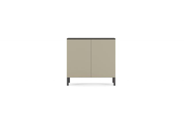 Flow | Credenza | Moonlight Paint | Edge Mounted Base | Buffet Height