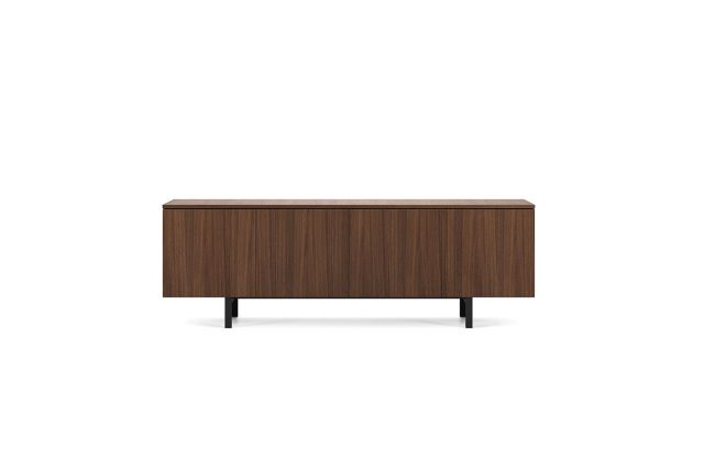 Flow | Credenza | M35 Marron Walnut Veneer | Inset Base | Conference Height