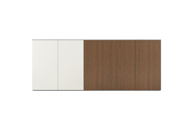 Flow | Credenza | Paint and Veneer Combination | Buffet Height