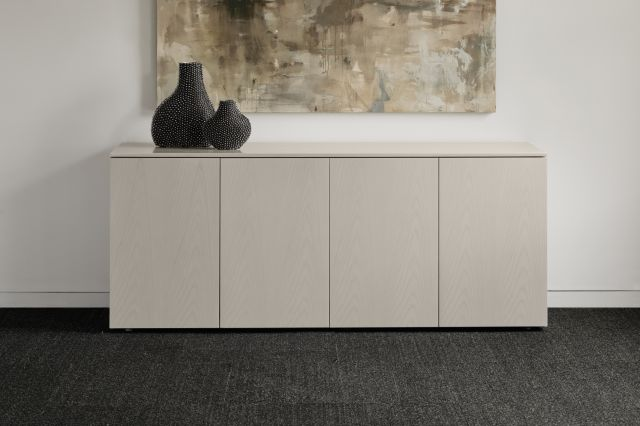 Flow | Credenza | Custom Ash Veneer | Conference Height