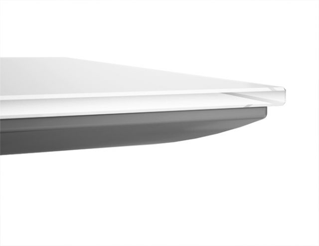 Flow   Glass Top   Painted Subtop   Edge Detail