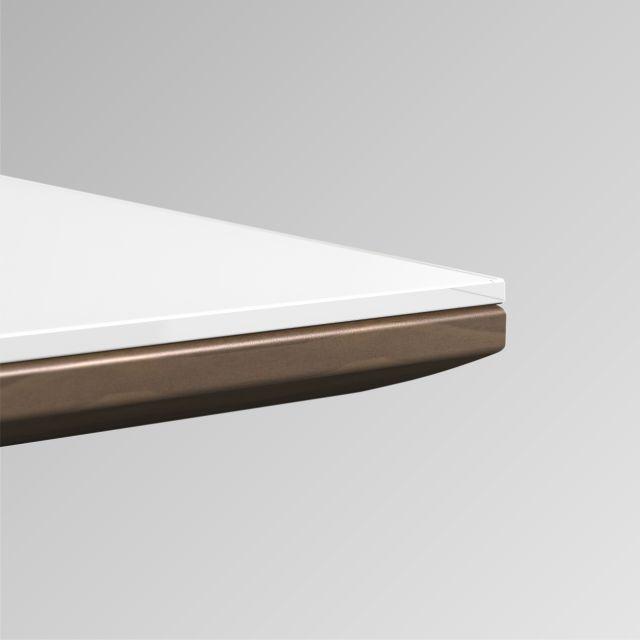 Flow | Glass Top | Veneer Sub Top | Edge Detail