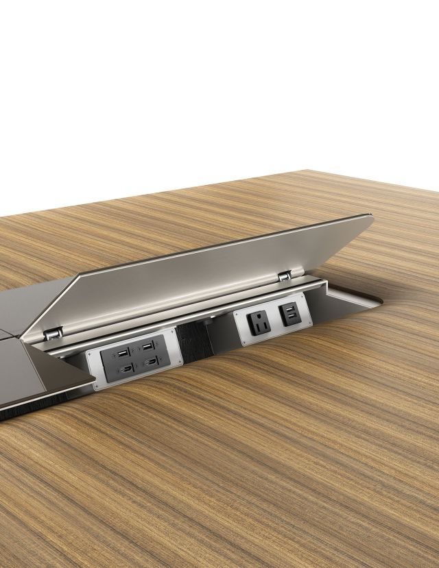 Power Island | Power and Tech | Flow Table | M76 Paldao Veneer | VG Clove Backpainted Glass