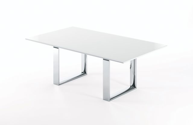 Flow | Conference Table | Glass Top | Hoop Base