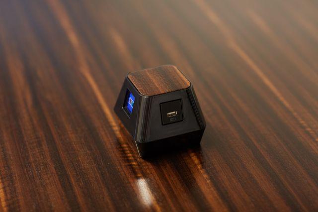 Charging Cube | Custom Veneer Top