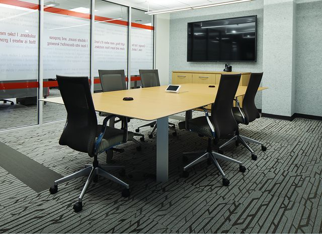 Kai | Conference Table | Rectangle M49 Angora Ash Veneer Top | Clear Anodized Metal Legs
