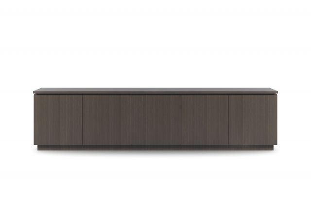 "Performance Credenza | G30 Zinc Walnut Veneer | 120"" Length 