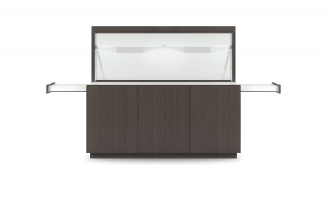 "Performance Credenza | G30 Zinc Walnut Veneer | Food Service | 72"" Length 