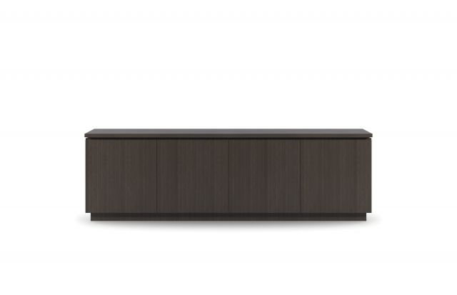 "Performance Credenza | G30 Zinc Walnut Veneer | 96"" Length 