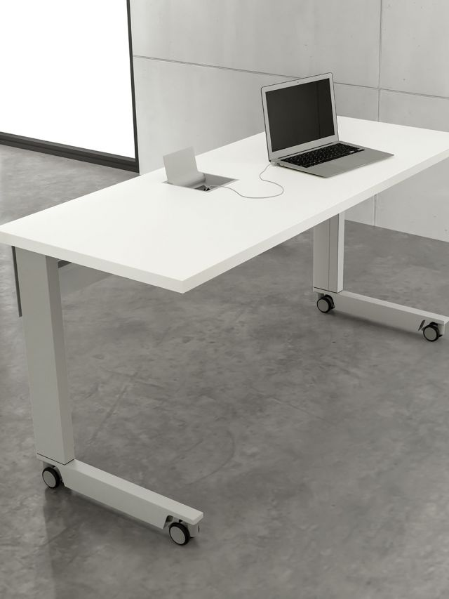 Fleet | Training Table | C Leg | Laminate Top ABS Edge | Power Matrix Compact