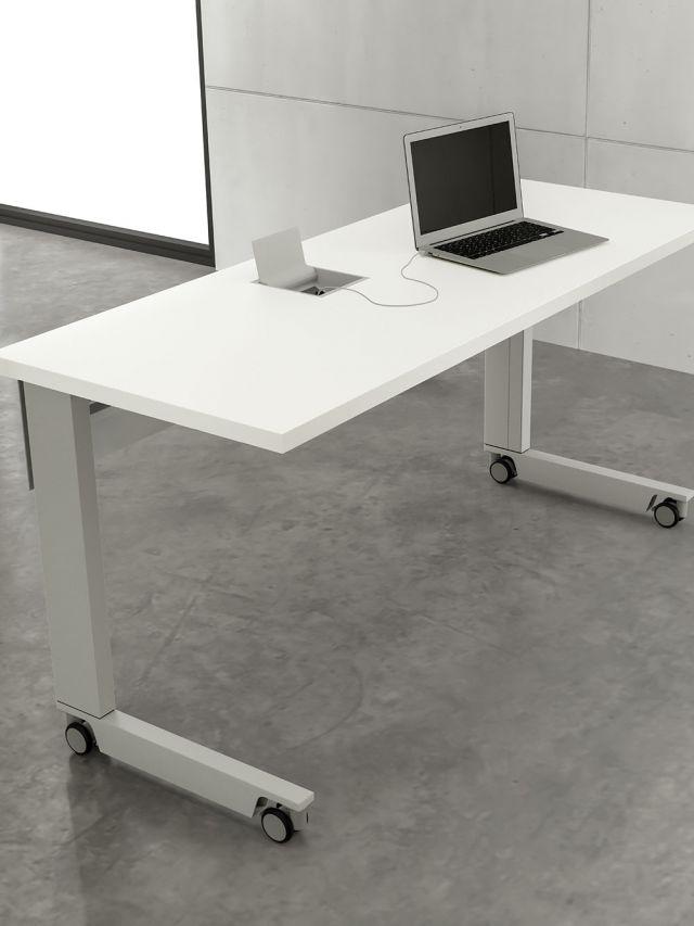 Fleet | Training Table | C Leg | Laminate Top ABS Edge | Power Matrix Compact
