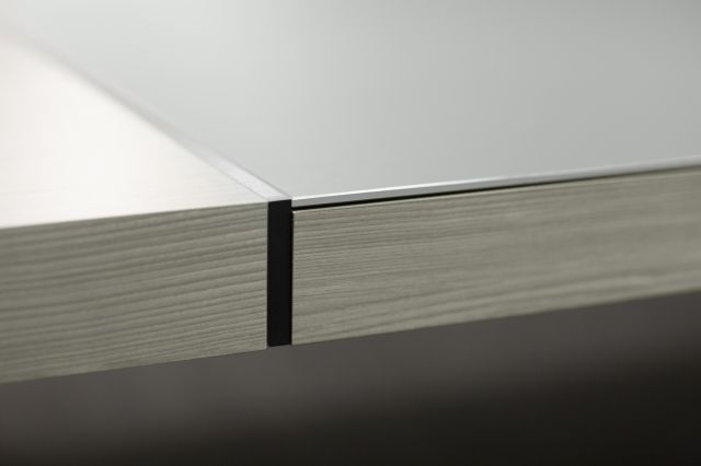 Tesano | Community Table | Black Anodized Edge Detail