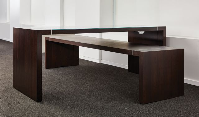 Tesano | Community Table | Seated Height | Standing Height | Chicago Showroom