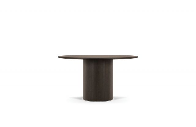 Two 4 Six | Meeting Table | Veneer | Veneer Cylinder Base