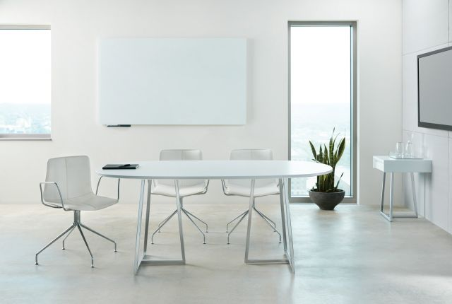 Two4Six | Meeting Table | Laminate Top | Foil Powdercoat Open Frame Base