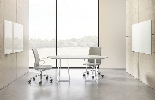 Two4Six | Meeting Table | Soft Rectangle Laminate Top | Open Frame Base | 2 Chairs
