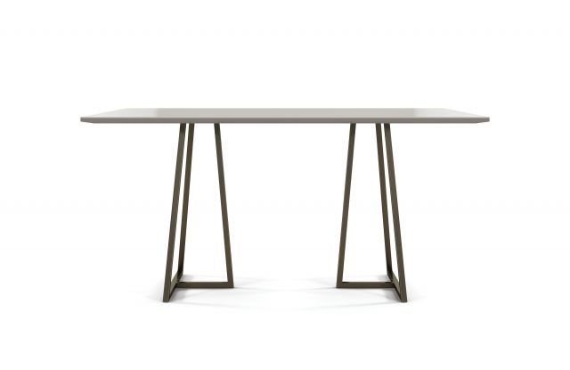 Two 4 Six | Meeting Table | Rectangle Laminate Top | Storm Powdercoat Open Frame Base | Standing Height