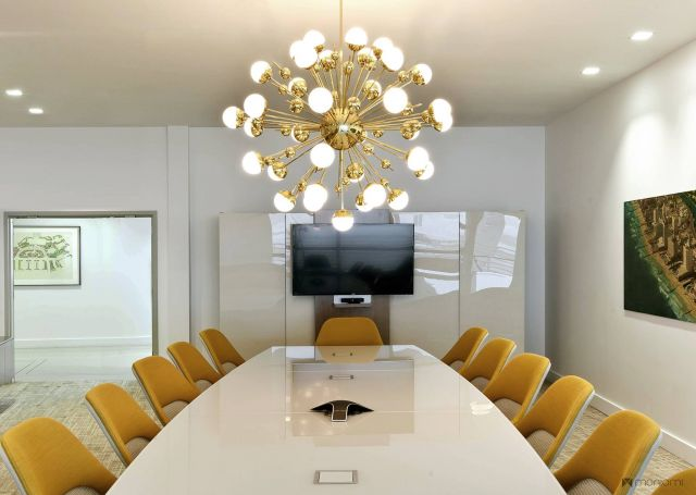 Flow | Conference Table | Boat Shape White Glass Top | Orion Jet Center