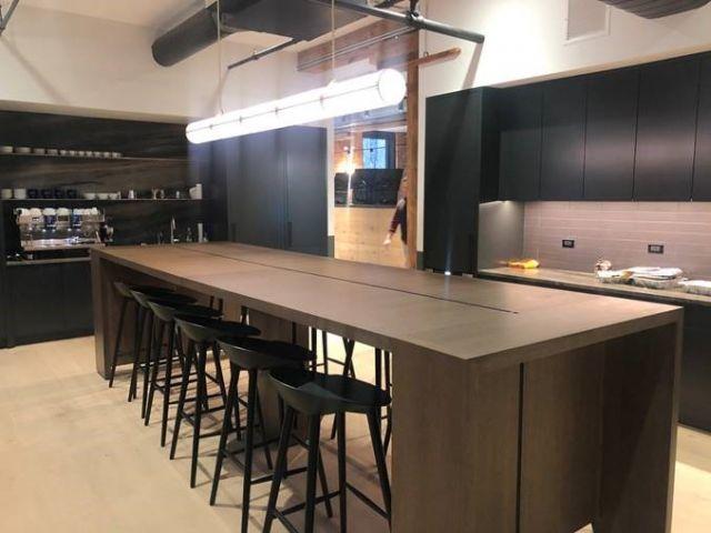Preston | Community Table | Otter Walnut Veneer | Standing Height | Kitchen
