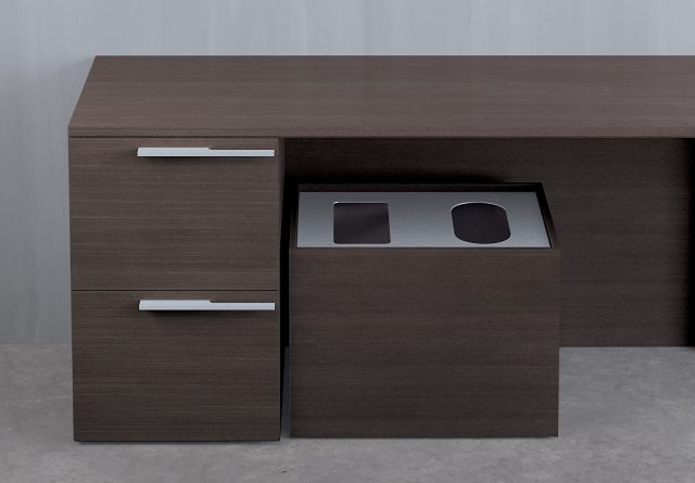 Recycle Center | Private Office | G30 Zinc Walnut Veneer | Double