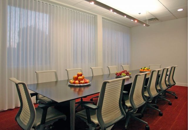 Saber | Conference Table | Custom | G96 Coco Cherry Veneer Rectangle Shape Top | Panel Base