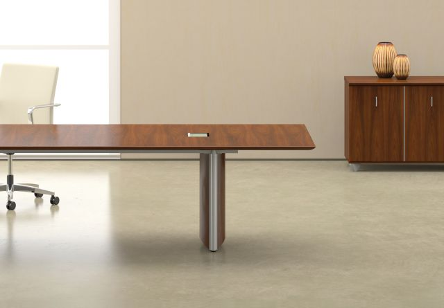 Saber | Conference Table | Veneer Rectangle Shape Top | Veneer Panel Base