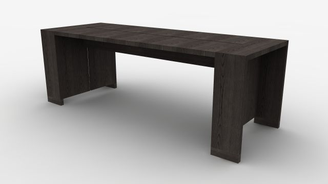 Preston | Community Table | Black Ash Veneer | Standing Height | Rendering
