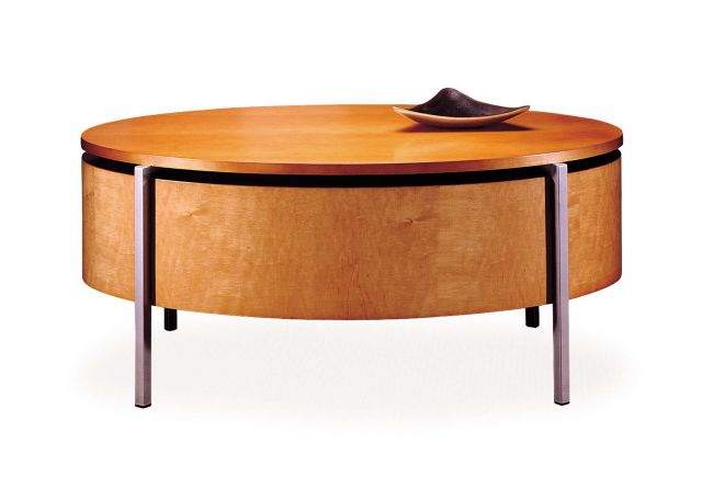 Stratum | Coffee Table | Custom Veneer Top | Foil Powdercoat Base