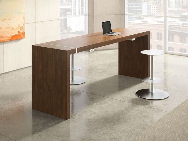 Tesano | Community Table | G31 Otter Veneer | Standing Height | Stool
