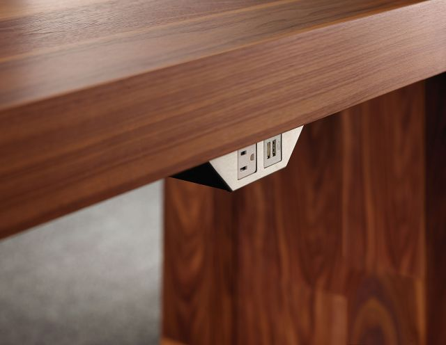 Tesano | Community Table | Planked Veneer | Power Rail Detail