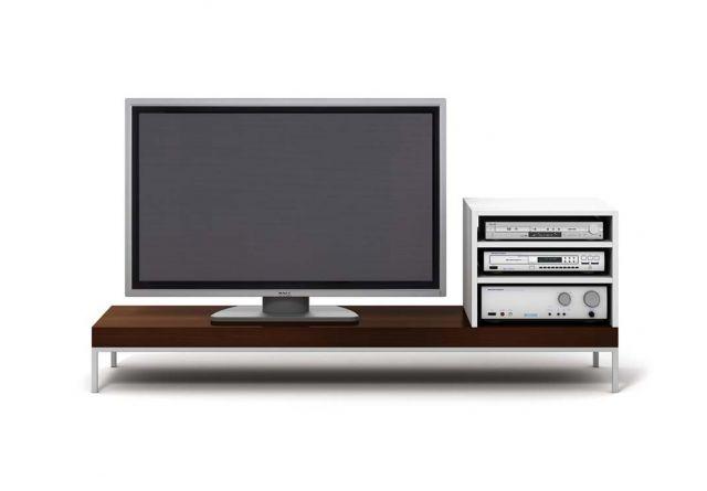 Tiro | Coffee Table | M26 Walnut | Electronics Displayed