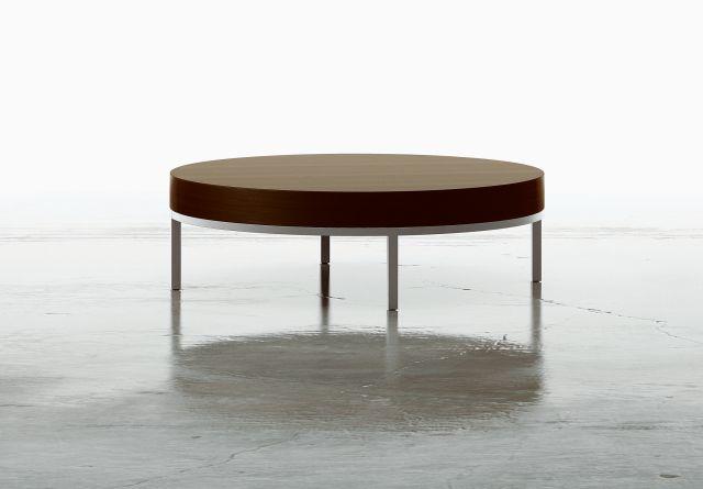 Tiro | Round Coffee Table | M26 Walnut Veneer | Foil Powdercoat Base