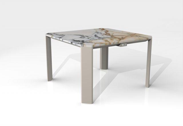 Tova | Meeting Table | COM Marble Top | Burnished Powdercoat