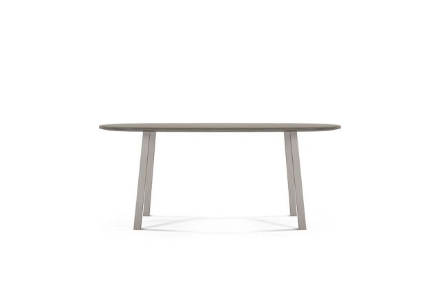 Two 4 Six | Veneer | Soft Rectangle Top | Polished Chrome Metal Post Legs