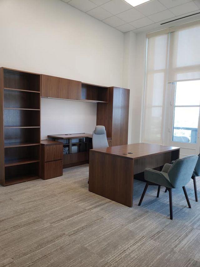 Cambium | Casegood | Otter Veneer | Freestanding Desk | Miller Family