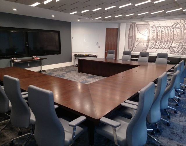 Flow   Conference Table   Custom   Veneer U Shape Table   Power Matrix  2