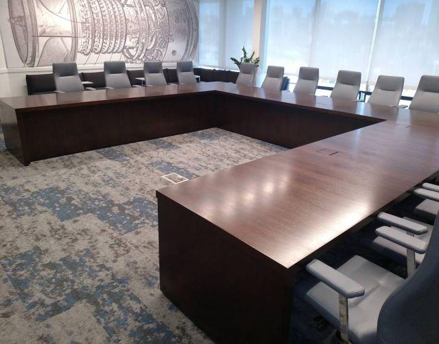 Flow   Conference Table   Custom   Veneer U Shape Table   Power Matrix   1