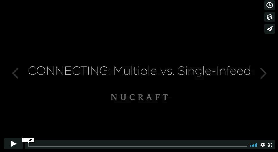 Connecting: Multiple vs. Single-Infeed