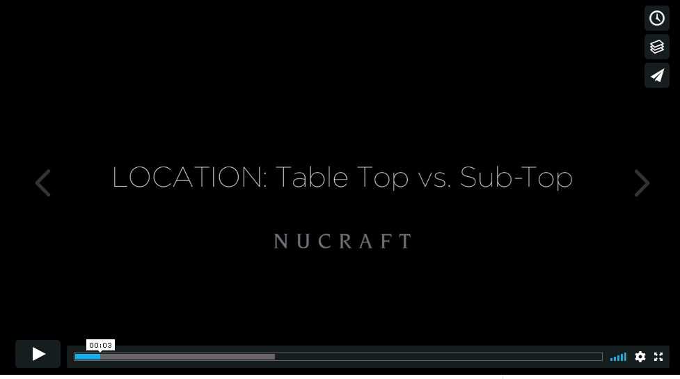 Location: Table Top vs. Sub Top